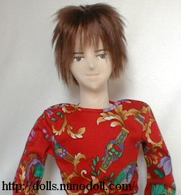 Doll in red T-shirt