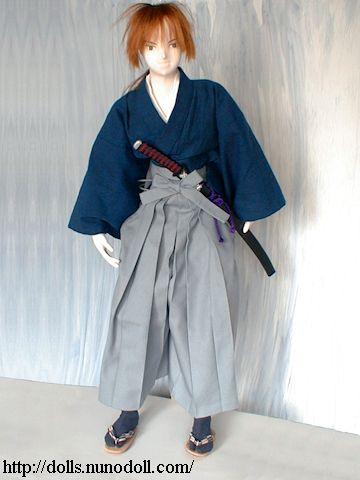 Samurai In Denim Hakama