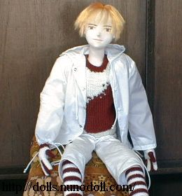 Doll in white parka