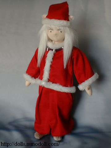 Inuyasha in Santa Claus costume