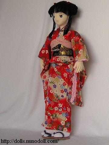 Rouge kimono furisode