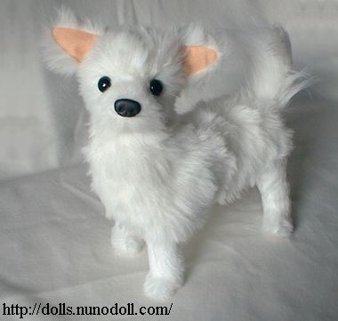 """Toy Long Coated Chihuahua Quality Collectable  12/"""" Soft Toy Dog"""